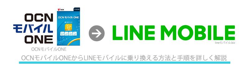 OCNモバイルONEからLINEモバイルへのMNP乗り換え手順
