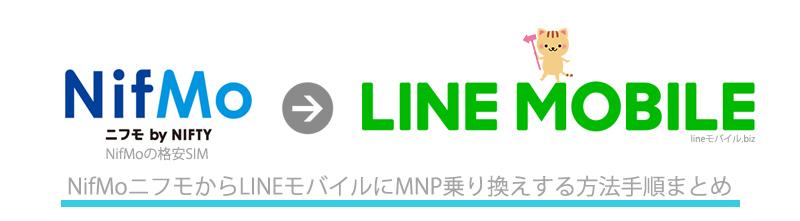NifMoからLINEモバイルへのMNP乗り換え手順
